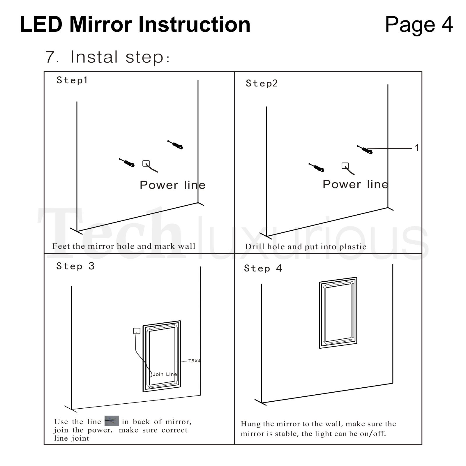 LED Bathroom Mirror Lights Touch switch Sensor Demister ...